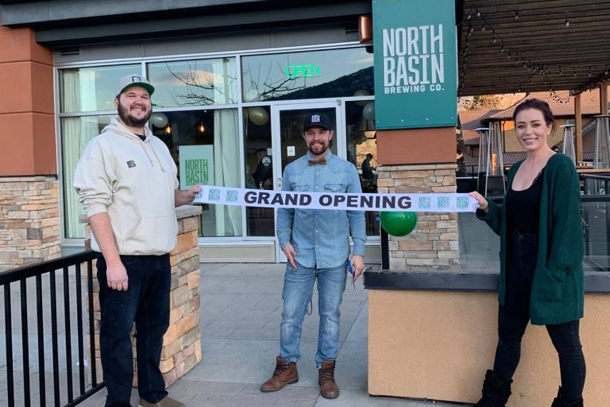 Head Brewer Kody Rosentreter, owner Wes Greve and taproom manager Lisa Deleo celebrated North Basin Brewing's grand opening Jan. 22 and 23, 2020. (Contributed)